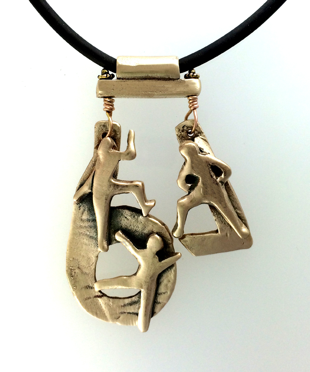Three Facing  In and Out Pendant (large view)