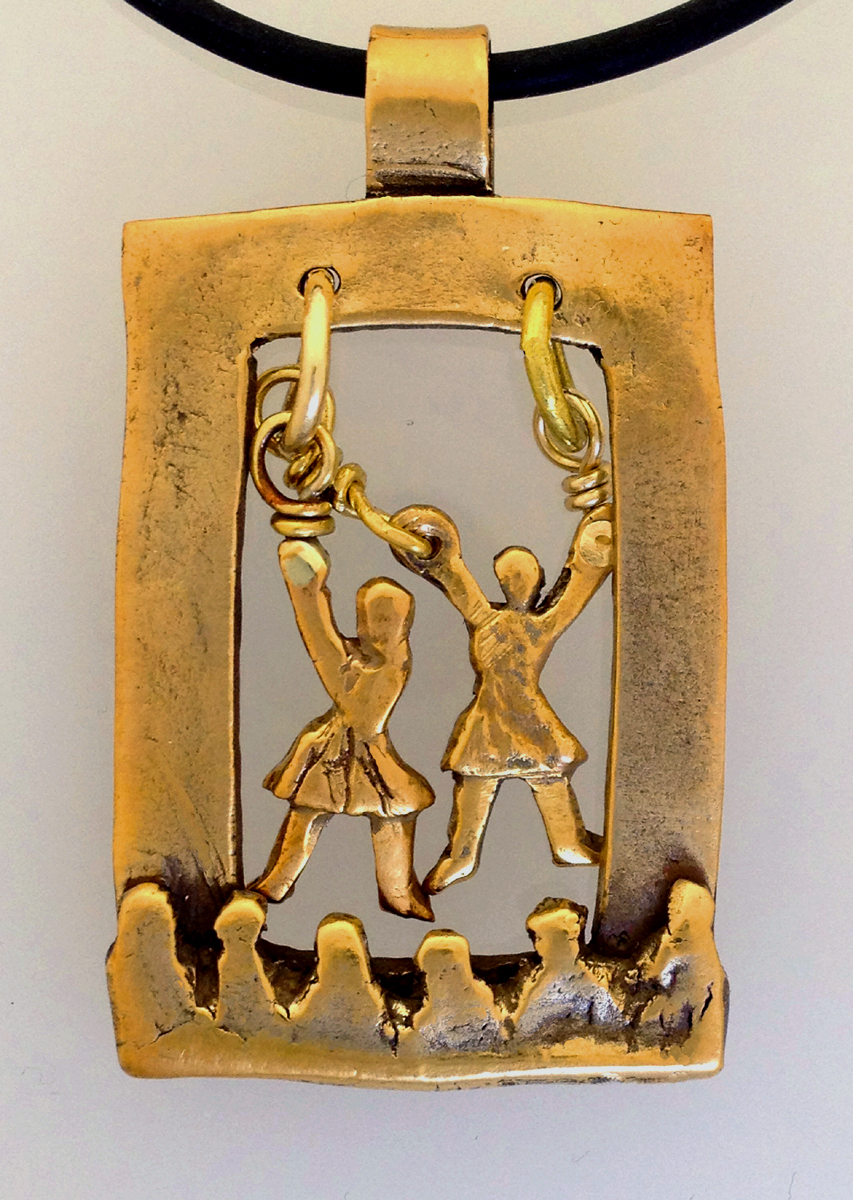 Two Acrobats Suspended From Rings (large view)