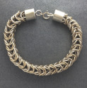 Gold and Silver Chain Maile Bracelet (thumbnail)