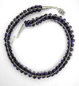 Lapis Lazuli and Silver Knitted Necklace (thumbnail)