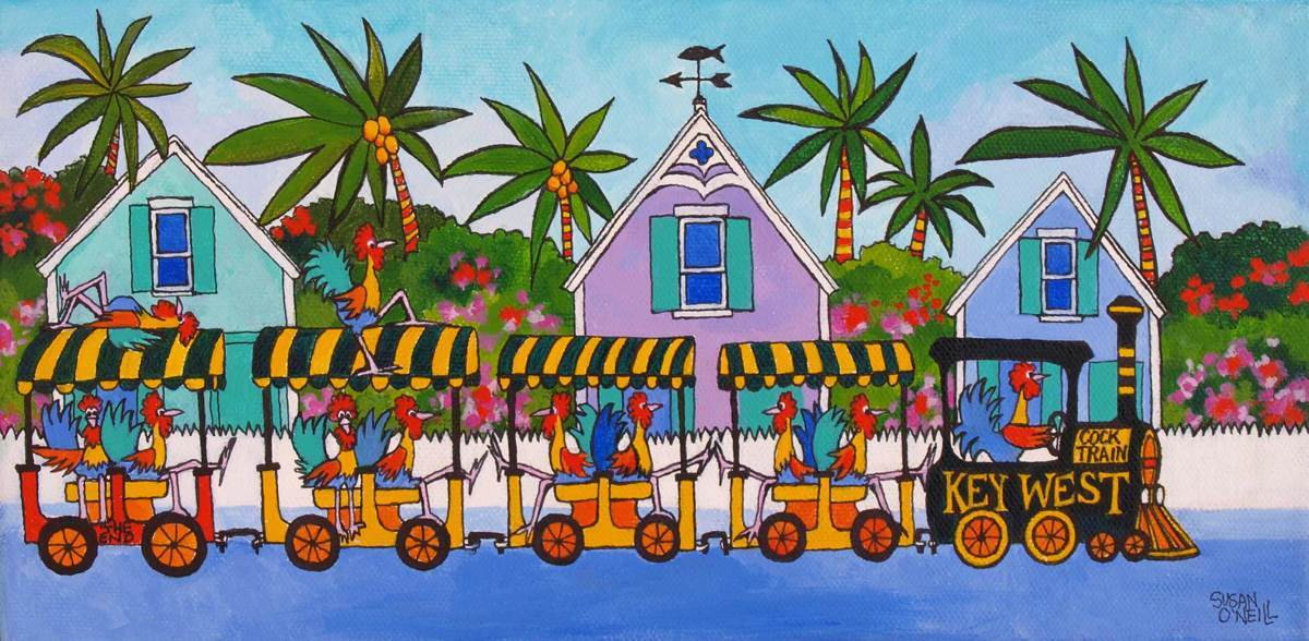 Key West Cock Train (large view)
