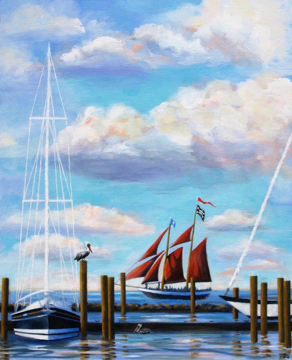 Key West Pirates & Pelicans (large view)