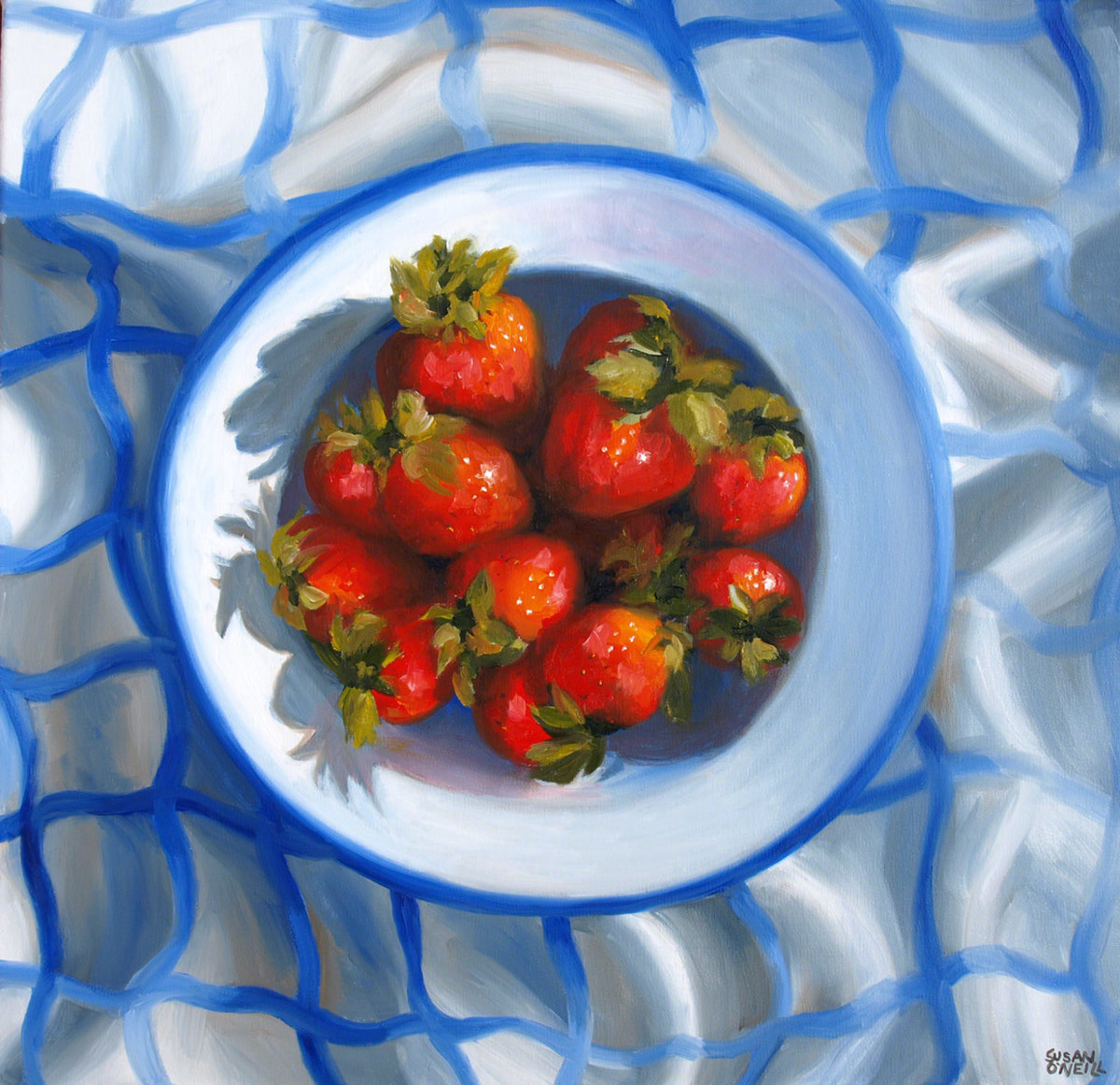 strawberries in a bowl (large view)