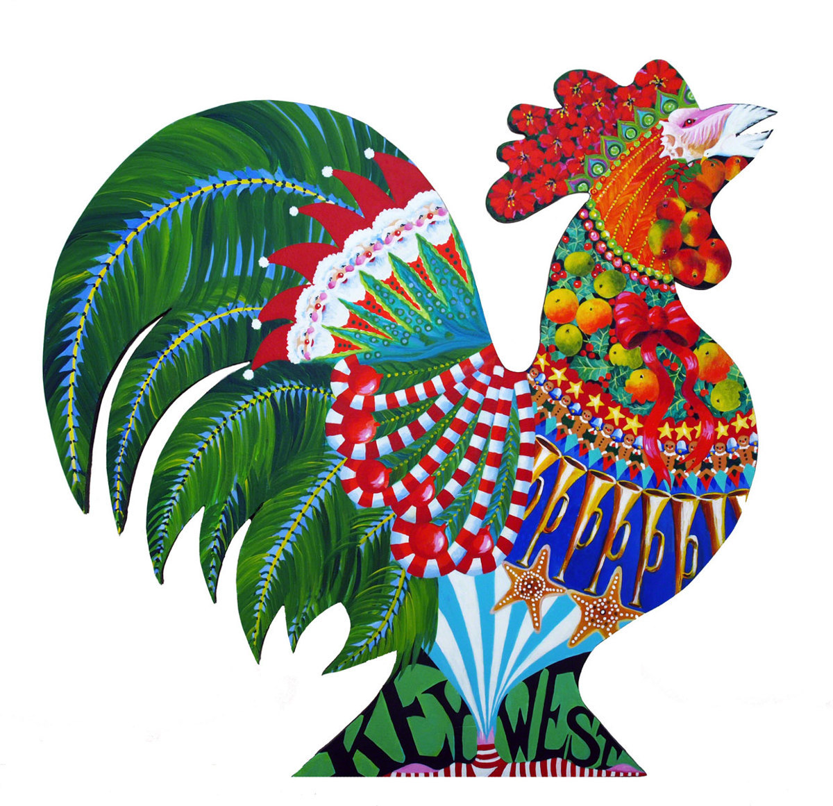 Key West Christmas Rooster (large view)