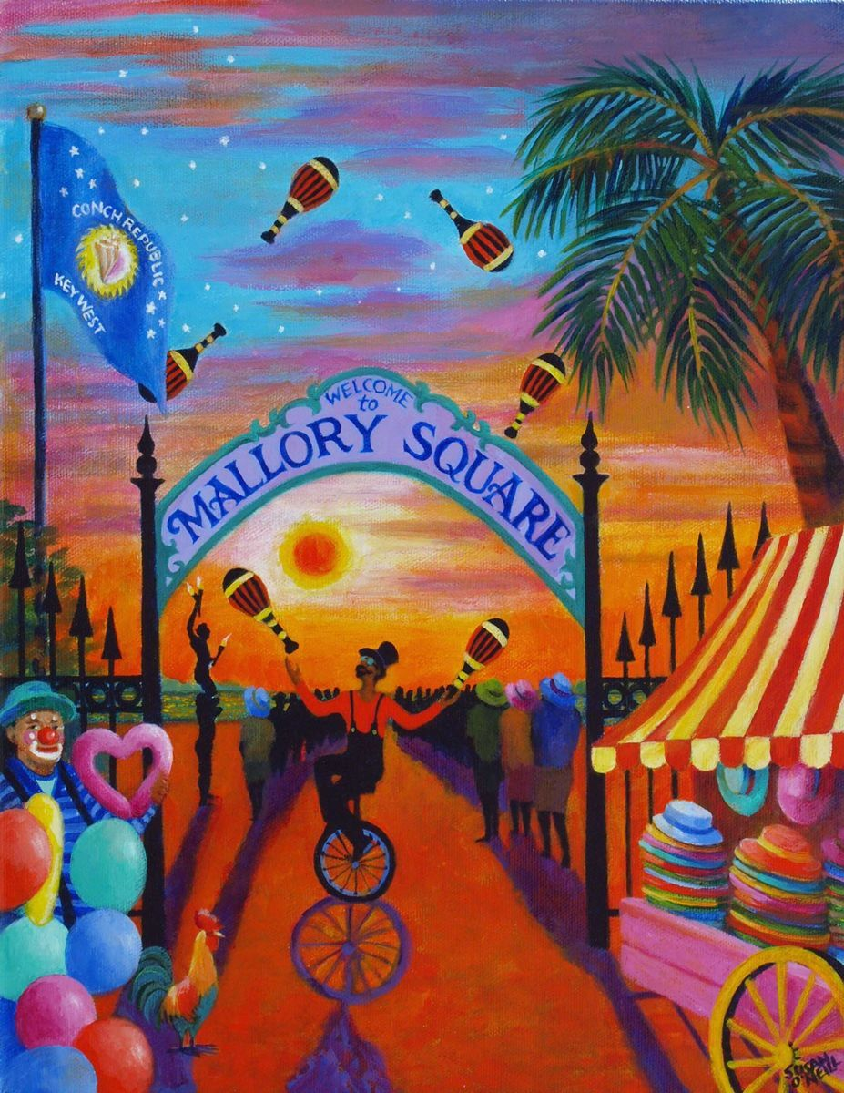 Key West Sunset Celebration (large view)