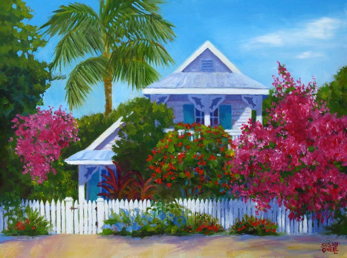 Dolphin House with Bougainvillea (large view)