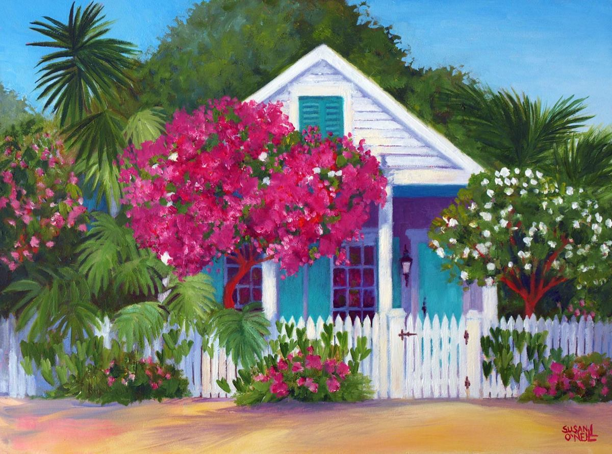 Conch House & Bougainvillea (large view)