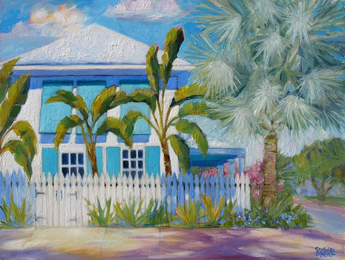 House with the Bismarck Palm (large view)