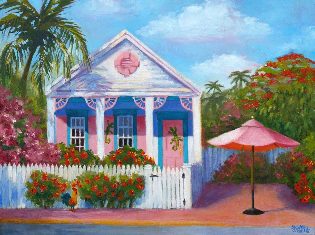 House with the Pink Umbrella (large view)