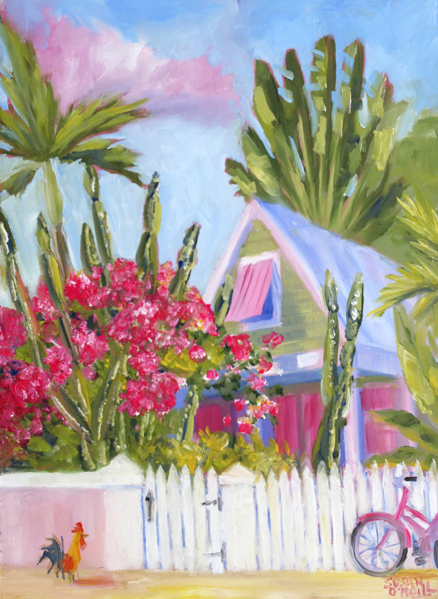 Cactus and Bougainvillea (large view)