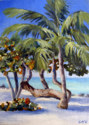 Painting--Oil-SeascapeSea Grapes On The Beach