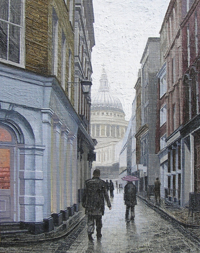 Glimpse of St. Paul's (Watling Street) 2014
