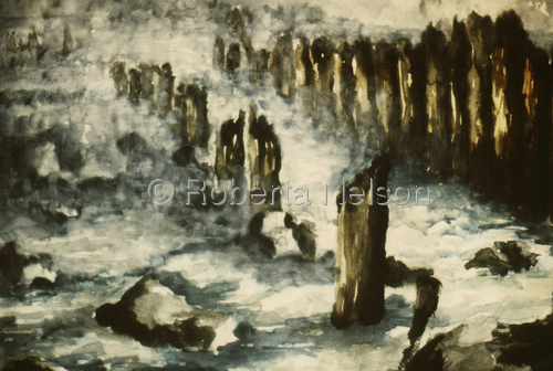 Old Pilings by Roberta Nelson