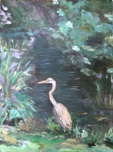 Floral Heron