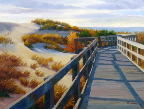 A Walk Through The Dunes by Nancy Wernersbach