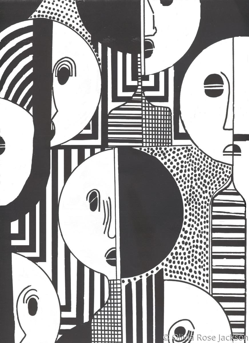 Archival Inkjet Print, Giclee, Collage, Digital Art. Pen & Ink (large view)