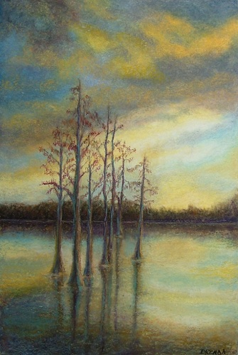 Evening on Cypress Lake (large view)
