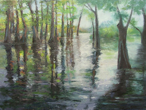 Dancing Cypress by Ouachita River Art Gallery (The River Gallery)