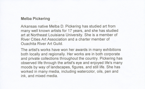 Artist Statement - Melba Pickering (large view)