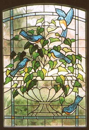 Bluebirds on Urn