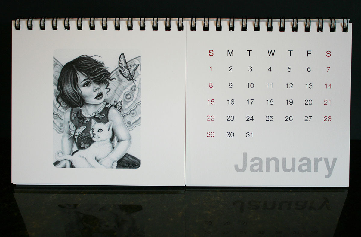 2017 Calendar of Magical Portraits  - page 1 (large view)