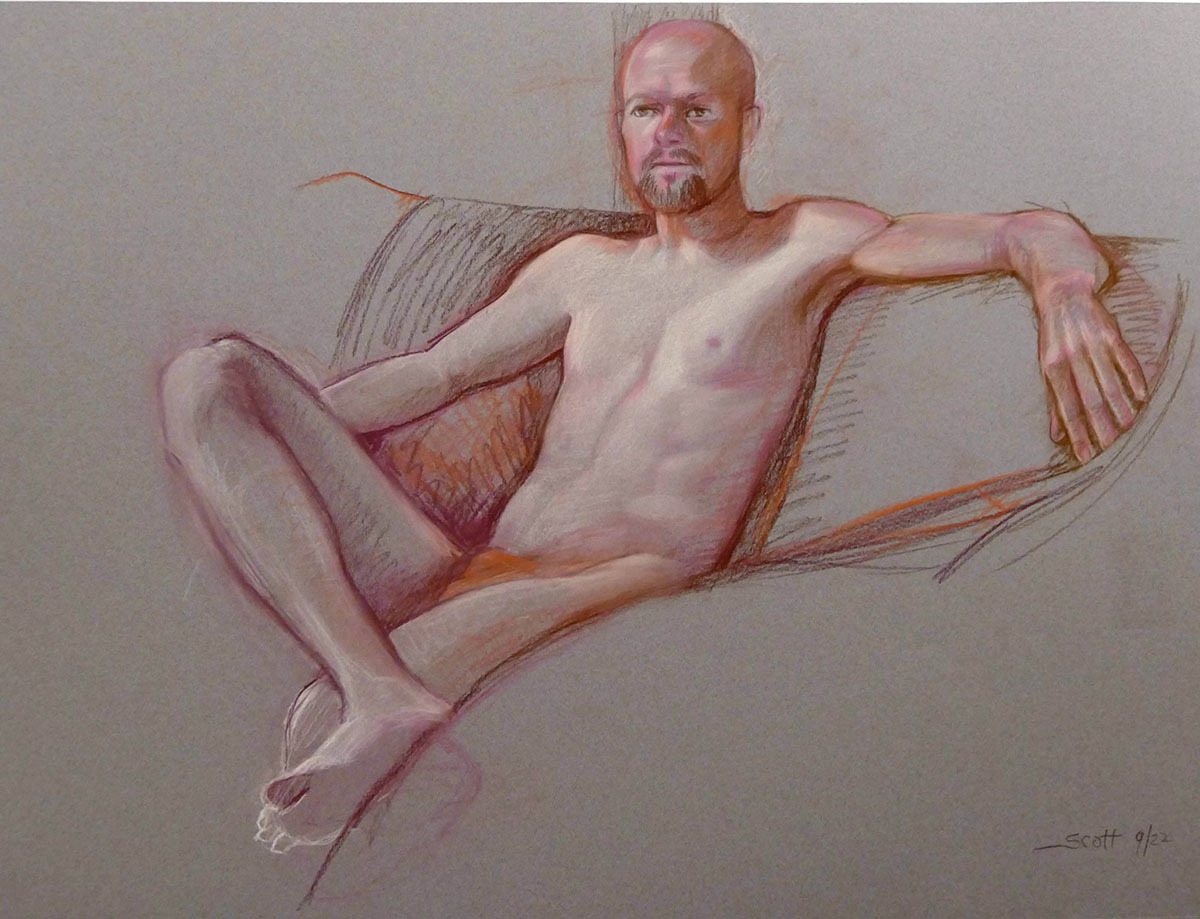 Figure Drawing , Seated Male (large view)