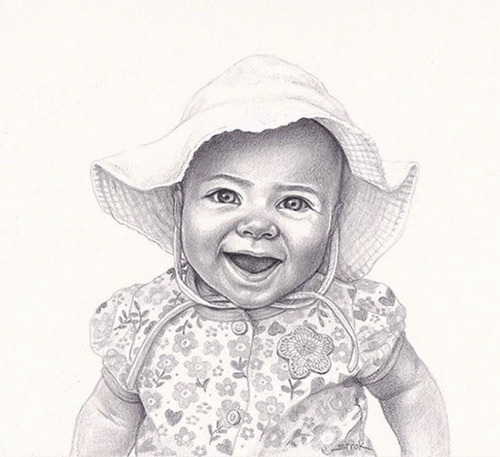 """Portrait of Gracie"" (large view)"