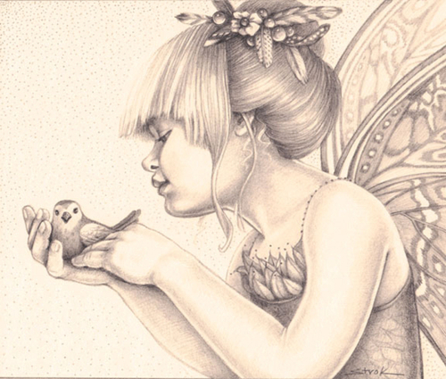 """""""Feather Fairy"""" (large view)"""