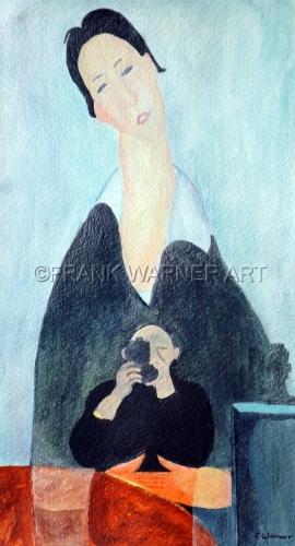 HISTORY OF ART 3: SELF-PORTRAIT WITH A MODIGLIANI (PORTRAIT OF A POLISH WOMAN