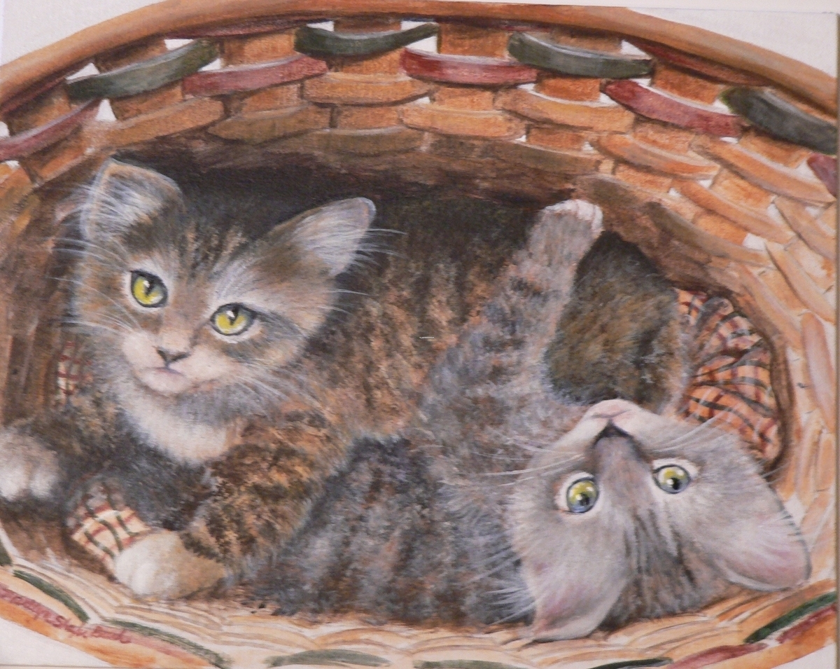 Kittens in a Basket (large view)