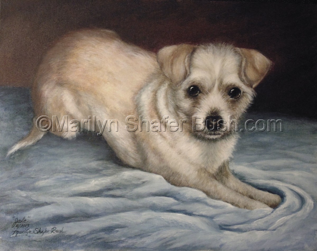 acrylic portrait of a male chihuahua (large view)