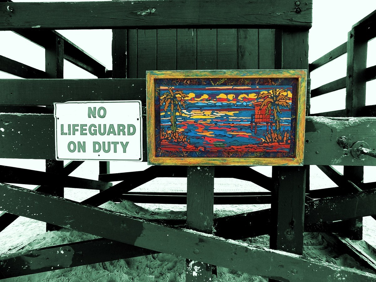 No Lifeguard on Duty (large view)