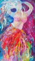 beautiful, brightly painted, with much texture... captures the spirit of Middle Eastern dance! (thumbnail)