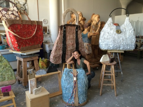 Carol Schwartz and the Bags she Sculpts