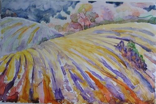 Hayfield Autumn by Pamela Lee  Studios