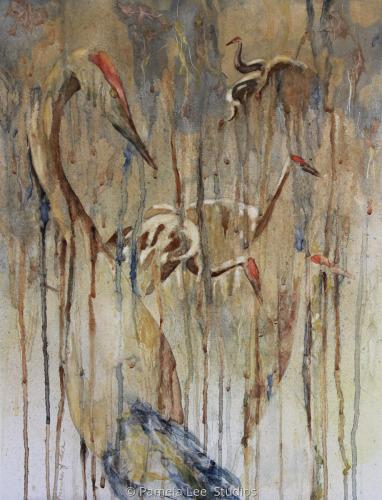 Camouflauge Cranes 3