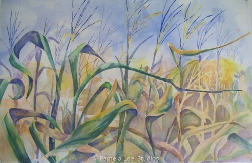 Corn Tassels by Pamela Lee  Studios