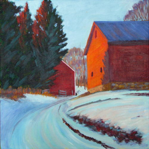 Barn, Winter Afternoon