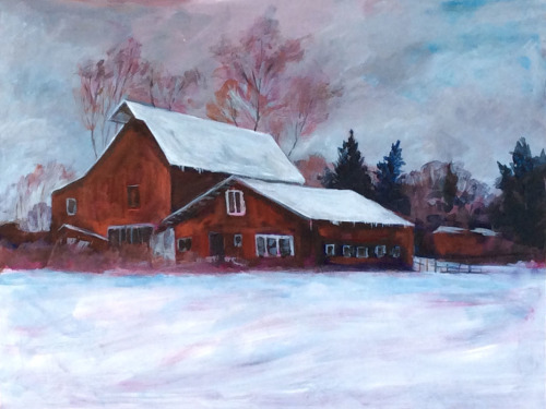 Winter Barn I