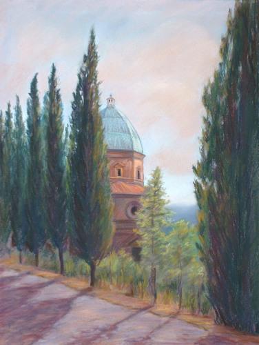 Dome & Cypresses II