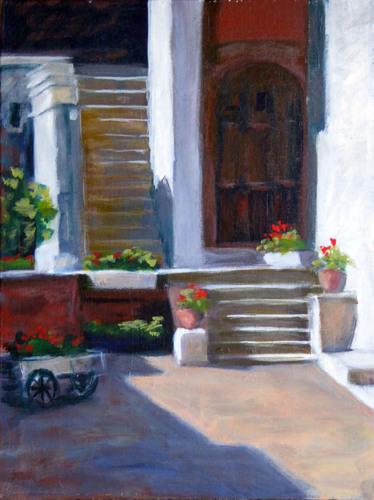 Courtyard, Honfleur