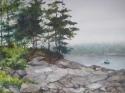 Roberts Harbor with Boat (thumbnail)