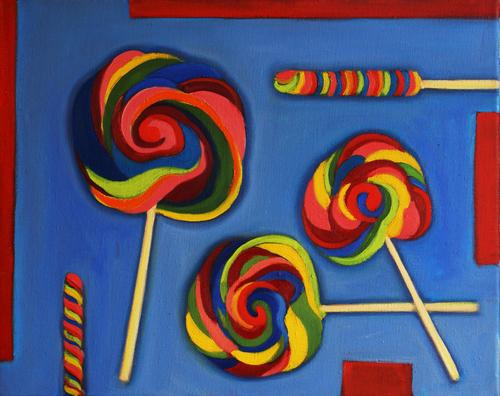 Candy and Red Stripe by Ishita Bandyo Art
