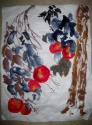 blue leaves and peaches (thumbnail)