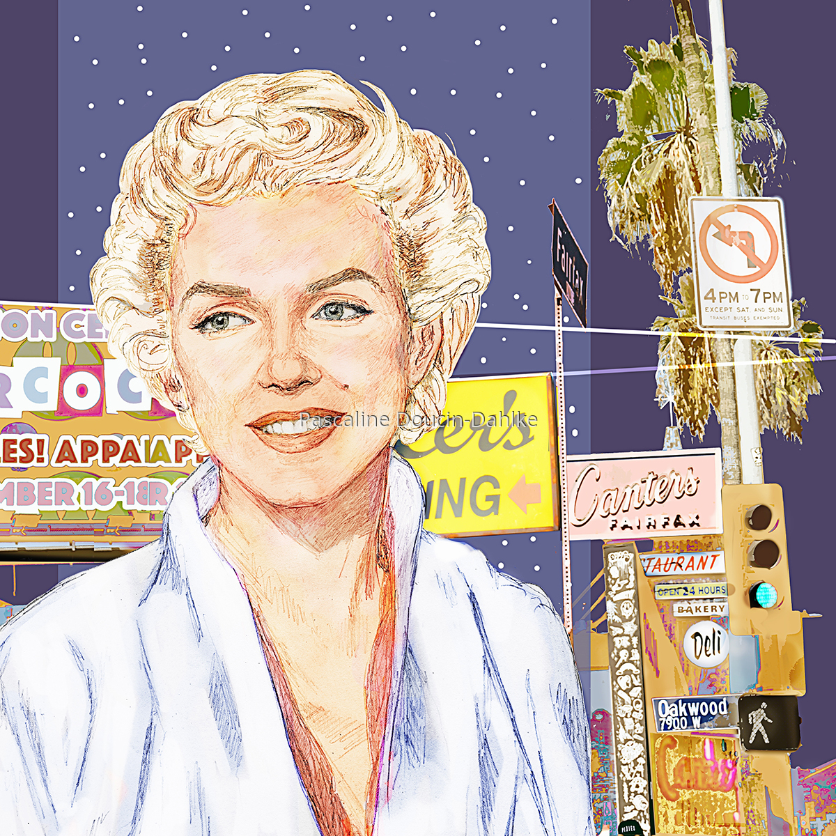 Marilyn Monroe by Canter's Deli restaurant - 1955 (large view)