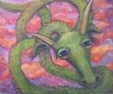 Painting--Oil-AllegoricalGREEN DRAGON