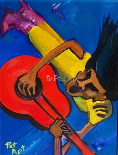 Painting--Oil-ExpressionistMARIACHI ROCK IV