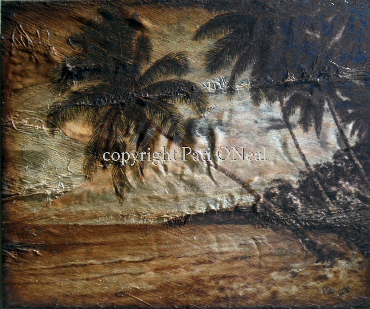 Tropical Coco Palms (large view)