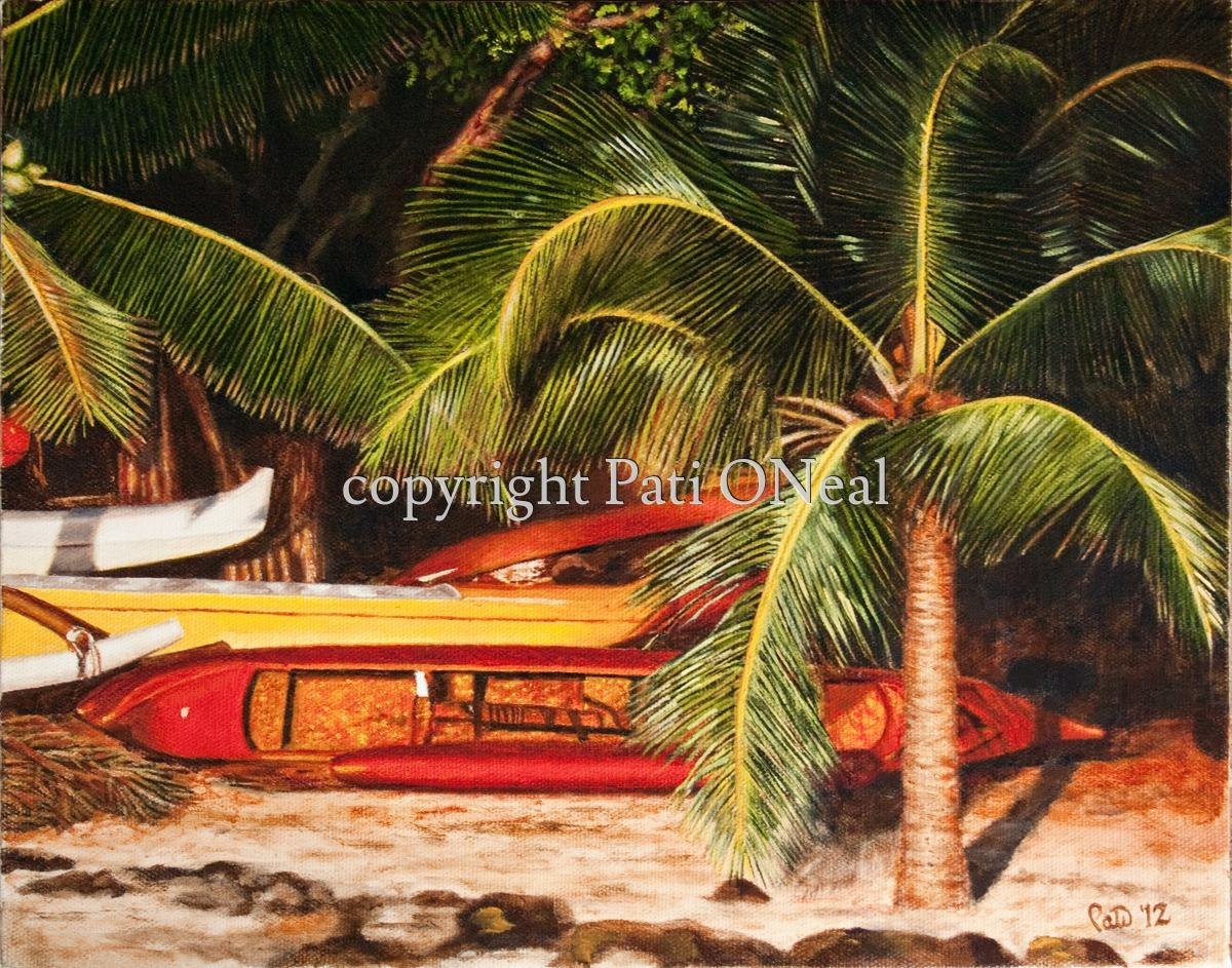 Golden Hale'iwa Canoes (large view)