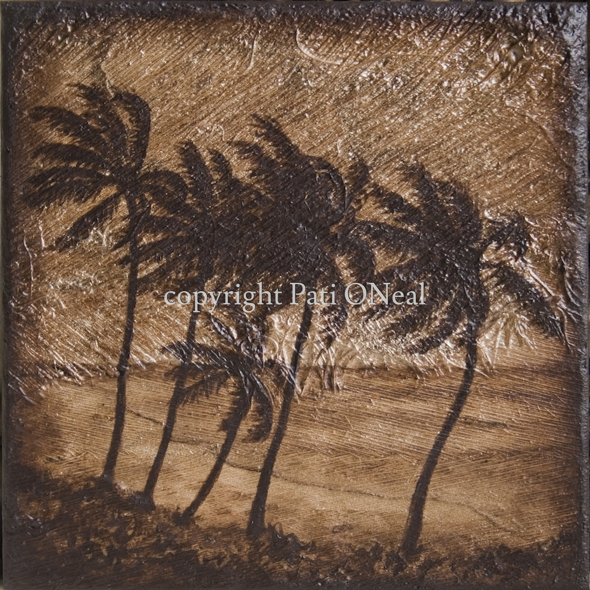 Windy Beach Coconut Trees (large view)